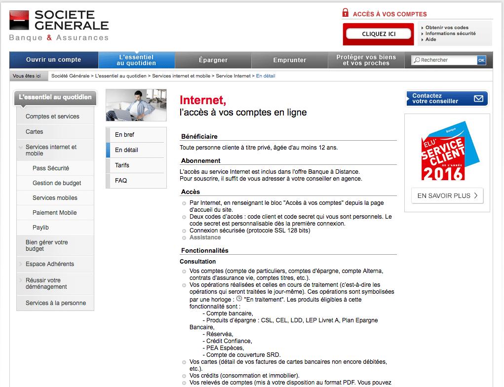 Societe Generale Professionnelle En Ligne & Conseil