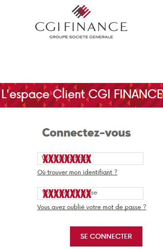 Espace client CGI Finance
