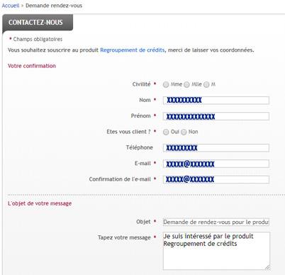 demande regroupement credit en ligne