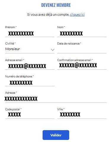 formulaire inscription client Socrif