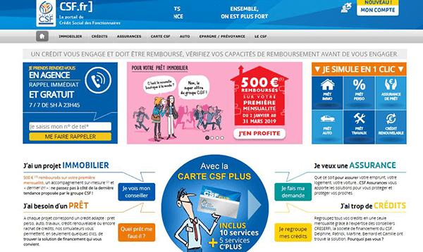 credit fonctionnaire csf