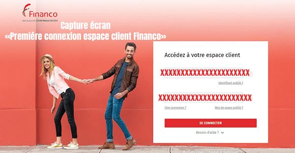 premiere connexion espace client financo