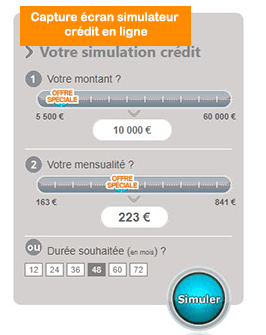 simuler credit financo en ligne