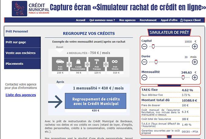 simulateur pret rachat de crédit