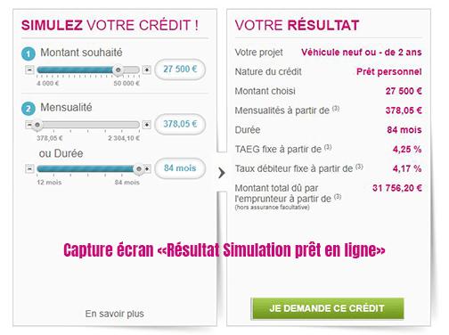 Simulation credit auto mediatis en ligne