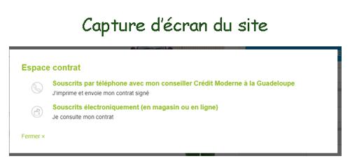 Accès aux comptes crédit moderne Guadeloupe
