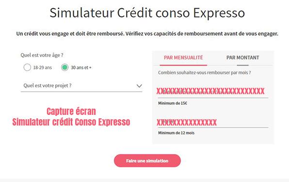 simulateur credit conso expresso societe generale