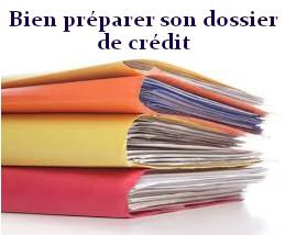 dossier de prêt bien préparé
