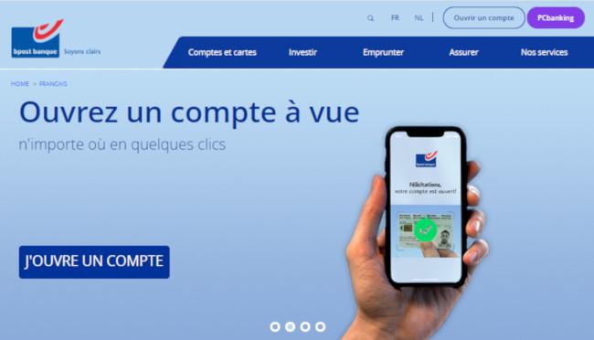 site en ligne de la banque de la poste