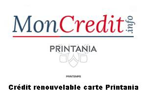 Carte Printemps crédit Sofinco
