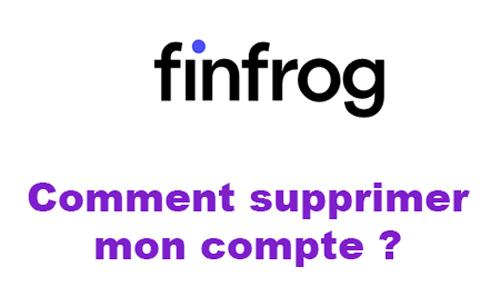 Supprimer compte Finfrog