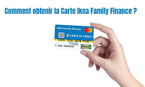 comment demander la carte Ikea family ?